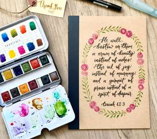 🚚 Customizable muji calligraphy notebooks