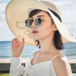 P12898 名媛款大帽緣草帽