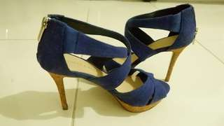 High heels electric blue
