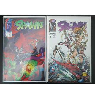 Spawn #1,#9 (1992) Set of 2- 1ST Appearance of Spawn! 1ST Appearance of Angela! Todd McFarlane's Greatness!Neil Gaiman's Awesomeness! Super-Key Books!