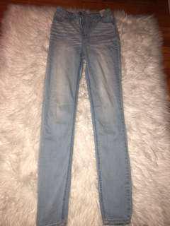 Skinny Blue Hollister Jeans // Size 23