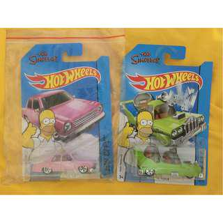 The Simpsons Hot wheels set 1:64 scale