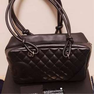 Chanel Cambon Shoulder Tote Bag in Black
