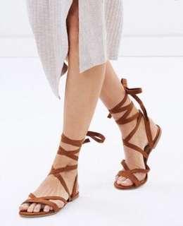 BILLINI - Daska Tan Lace Up Sandal