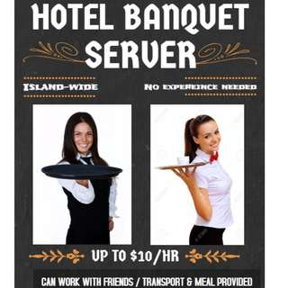 Banquet Servers Needed @ Dhoby Ghaut || $9/HR || Work with your friends!!!