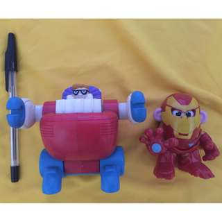 2001 jollibee kiddie meal dexters lab robot (rare) & 2013 mr potato head iron man toy story