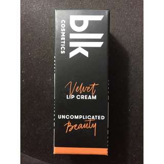 BLK Velvet Lip Cream in STYLISH
