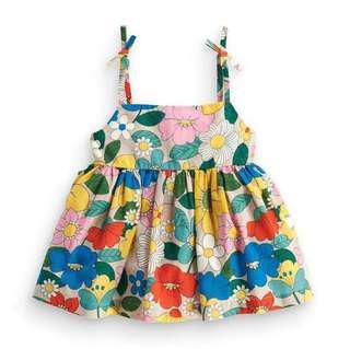 【BABYWEAR】【CLOTHING】【GIRL】PCD00026 BABY GIRL COLORFUL FLOWER DRESS