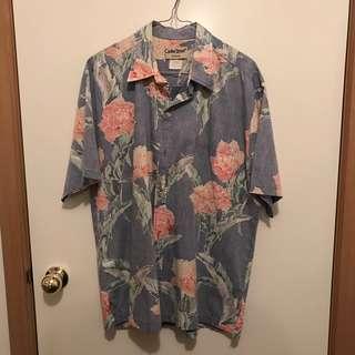 Vintage Mens Large Cooke Street Hawaiian Short Sleeve Shirt