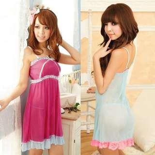 Babydoll sleepwear women v-neck lace nightwear