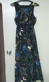 Galaxy long dress