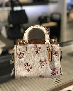 Coach Rogue 17 With Floral Bow Print - White