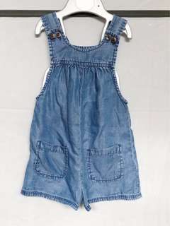 Baby Gap Chambray Romper Shorts