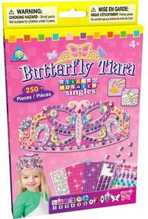 Sticky Mosaics Activity - BUTTERFLY TIARA