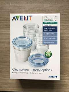 BNIB Philips Avent Food Storage Container with Pump Adaptor