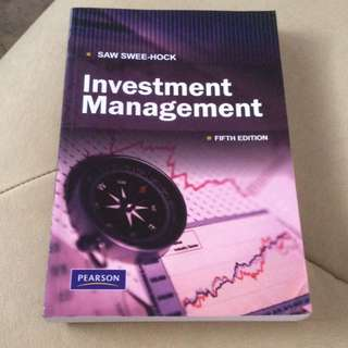 Investment Management By Saw Swee Hock