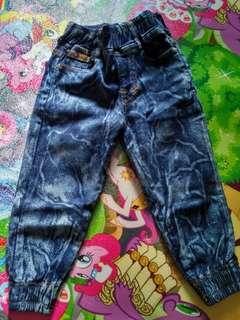 Celana joger jeans anak