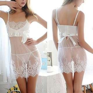 Lingerie nightwear underwear babydoll lace material