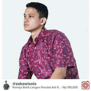 Kemeja Batik Asli Solo Bahan Berkualitas