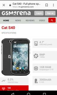 Cat phone s40