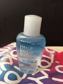 Maybelline eye+lip make up remover