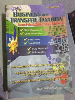 Business and Transfer Taxation by: Banggawan