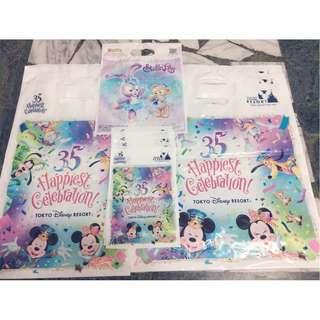 🚚 [現貨]東京迪士尼 35週年 購物袋 手提袋 禮物袋 周年