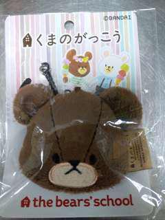 the bears' school 頭型電話繩
