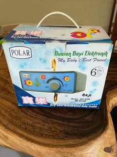 polar dry cell electronic baby cradle