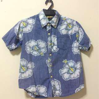Hawaii/batik Crop top