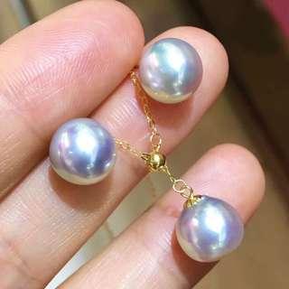 特價一套日本Akoya18k金耳環頸鏈❤️售完即止🎁生日禮物推薦小清新簡約款式