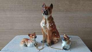 Retro ceramic figurines Japan