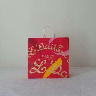 L'occitane Pink Paper Bag