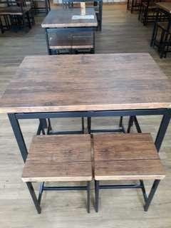 Meja dan Kursi kafe (1set)
