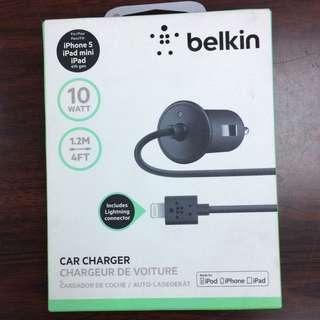 原裝正品BELKIN CAR CHARGER for iPhone 8 iPad 車載充電器 車用充電器