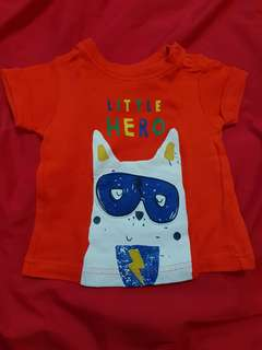 Mothercare orange shirt
