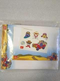 McDonald's 麥當勞人物 2000年絕版 信封信紙及貼紙全套