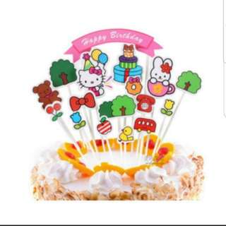 Happy Birthday Cake Topper Set