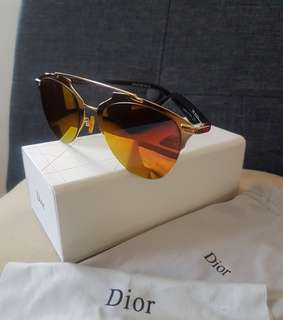 Dior inspired reflected sunglasses