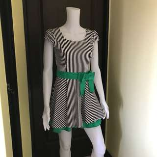 Stripes green dress