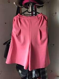 Pink cullotes
