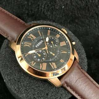 1:1 FOSSIL LEATHER CHRONOGRAPH