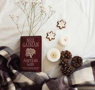🍒 american gods - neil gaiman [brand new paperback]