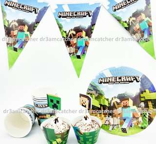 Minecraft party set in ready stock