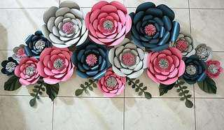 paper flower / bunga kertas / backdrop