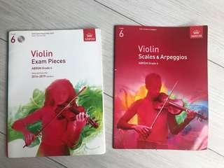 ABRSM Grade 6 Violin Exam Pieces & Grade 6 Scales & Arpeggios