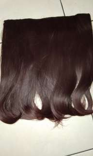 Hairclip 45cm dark brown