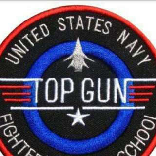 Top Gun Embroidered Patch Fighter Weapons School US Navy 7.5 cm Diameter Iron On Or Sew On 30 Pieces Stock Available NOW 1 Piece $4.90 3 Pieces $12