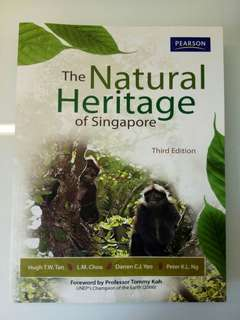 SSS1207/GES1021 Natural Heritage of Singapore textbook