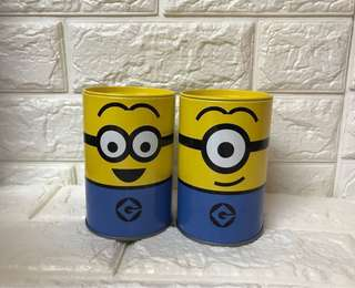 Minions 可愛小鐡罐(兩個)